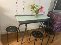 IKEA DINING TABLE & STOOLS