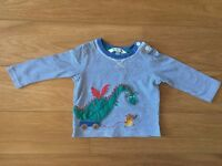 Long sleeve top and bodysuit 3-6m, JL/Gap, boy