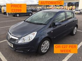 2007 VAUXHALL CORSA CLUB AUTOMATIC / NEW MOT / PX WELCOME / FINANCE AVAILABLE / WE DELIVER