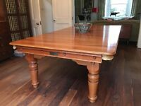 Snooker Dining table 3/4 slate bed cherry wood adjustable height in near perfect condition