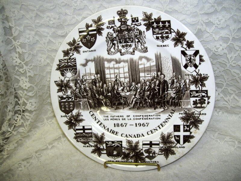 CANADA CENTENNIAL PLATE 1867 - 1967 WOOD & SONS
