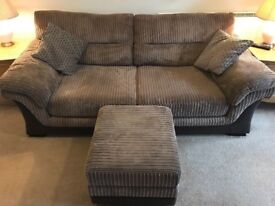 DFS Layburn sofa + storage footstool £100