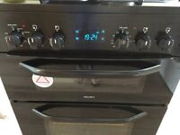 Bush Black Dual Fuel cooker