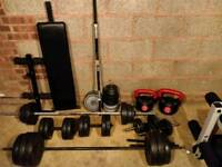 Barbells, dumbbells and weights