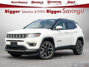 2020 Jeep Compass Limited|DUAL SROOF|HTD LTHR|NAV|TOW PKG