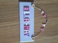 Ella-May Personalised Door Name Sign