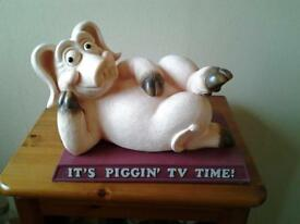rare it's piggin TV time pig