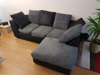 Black and grey sofa for sale £150