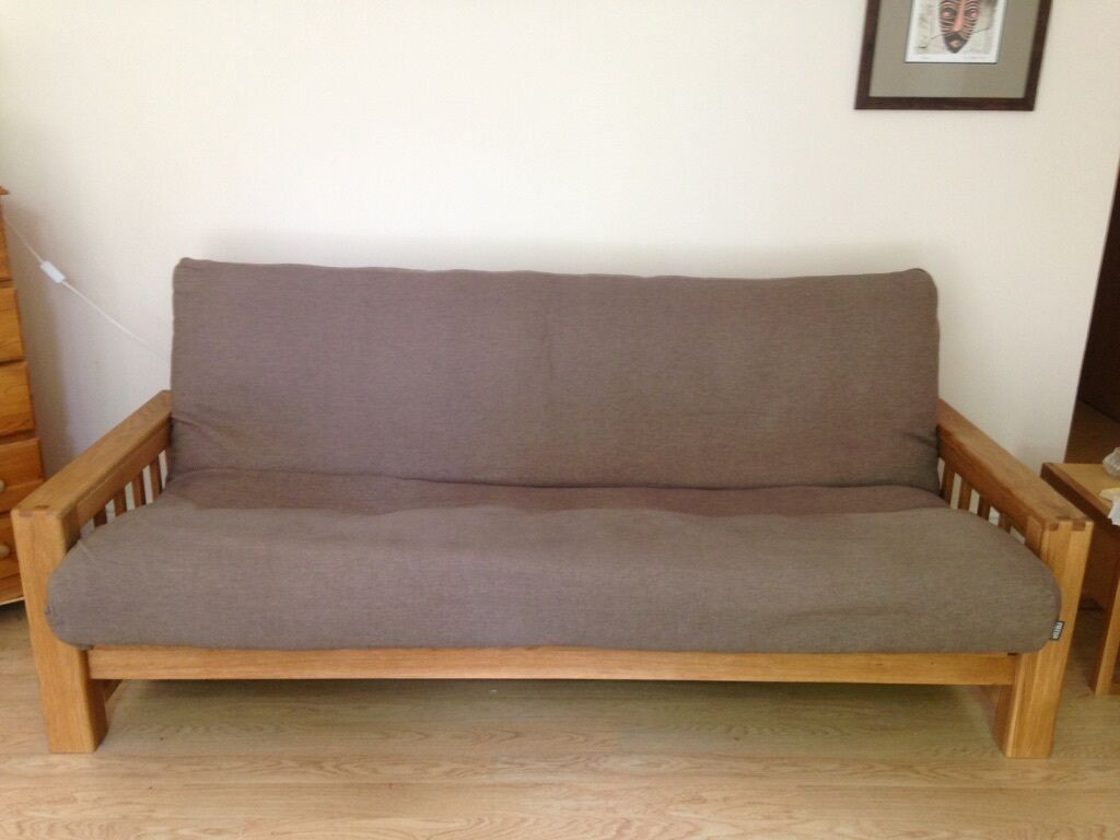 Solid Oak 3 Year Old Futon Double Bed
