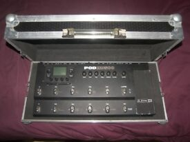 High Quality Hard Case / Pedal Board for Guitar Effects Processors Line6 POD500X , Digitech , BOSS.
