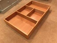 Under bed or cot storage - oak Mamas and Papas