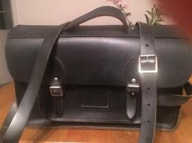 Leather satchel (black) by The Cambridge Satchal Co