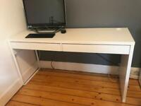 Ikea desk, excellent condition £35 with comfy wicker chair £20 also have an Ikea office chair £10