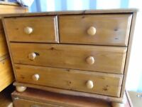 Pine Chest of drawers 2 over 2