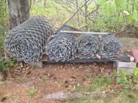 Heavy chain link fencing