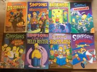 Stack of 8 Simpsons comic books good condition (retail value £72). Price reduced.