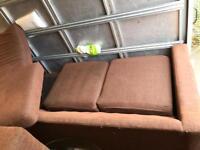 Brown fabric multi angle corner sofa