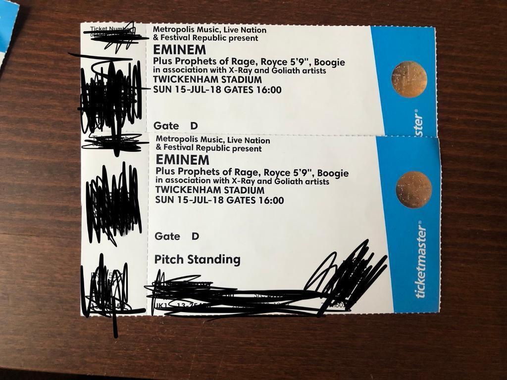 Eminem Standing X2 Tickets 150 Each In Greenwich London Gumtree