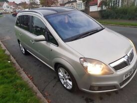Vauxhall Zafira Design CDTi 150 Diesel Leather Panoramic Roof Service History, Warranty, HPI Clear