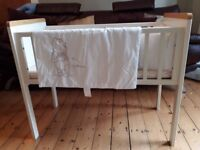 Baby Crib - Cosatto - birth to 6 mth approx, complete with matress, x2 fitted sheets, bumper&duvet