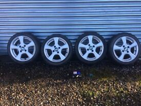 """Bargain !! Oz racing alloy wheels 15"""" bought new comes with good tyres and locking wheel nut kit"""