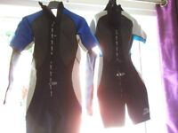 A pair of wetsuits