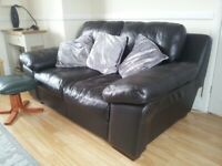 Black 2 seater Soft Leather Sofa