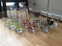 15 varied glasses - excellent condition