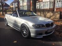 BMW 320i sport m spec convertible 55 plate only 65000 miles