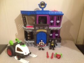 Imaginext Batman - Gotham City Jail Playset and Bane Battle Sled