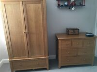 """Mothercare Wardrobe and chest of Drawers """"Knightsbridge"""""""