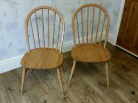 Pair of Ercol Dining / Kitchen Chairs.