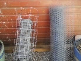 Part rolls of fence wire Rylock & Chicken Mesh