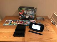 Nintendo WII U with 5 Games and all connections