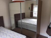 Ikea Pax Double Wardrobe with Sliding mirrored doors - Excellent Condition