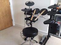 Yamaha DTX400K Electronic Drum kit + throne, headphones and sticks