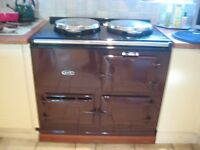 AGA COOKER GAS FIRED.