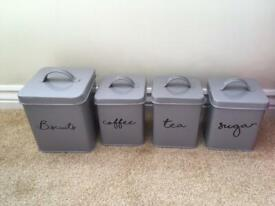 Tea, coffee etc canisters NEW