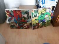 2 x marvel canvasses