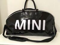 Genuine BMW Mini Black Patent Holdall Bag