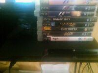 playstation ps3 slim+games
