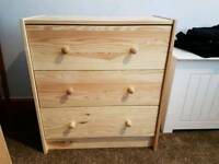Ikea Small Wooden Chest of Drawers