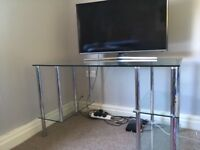 Glass desk from next