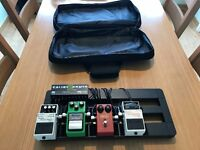 Guitar Effects Pedal Board - TS9 Keeley - Dyna Comp - Boss NS-2 - Chromatic Tuner