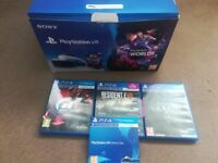 Sony PlayStation VR Headset + Camera ( VR Worlds Game Included plus 3 other games) only used 3 times