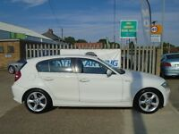 BMW 1 SERIES 2.0 116i Sport 5dr (white) 2009