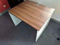 High Quality Dark Oak Wooden style Office Study Desks 1000 X 800