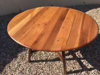 Vintage Ercol drop leaf dining table.