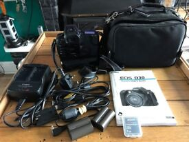 CANON EOS D30 (GOOD WORKING ORDER ) & 3 DSLR Camera Cases