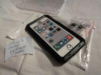 I-Phone X Lanhiem Heavy Duty Anti-Shock Case Metal Black New Rugged